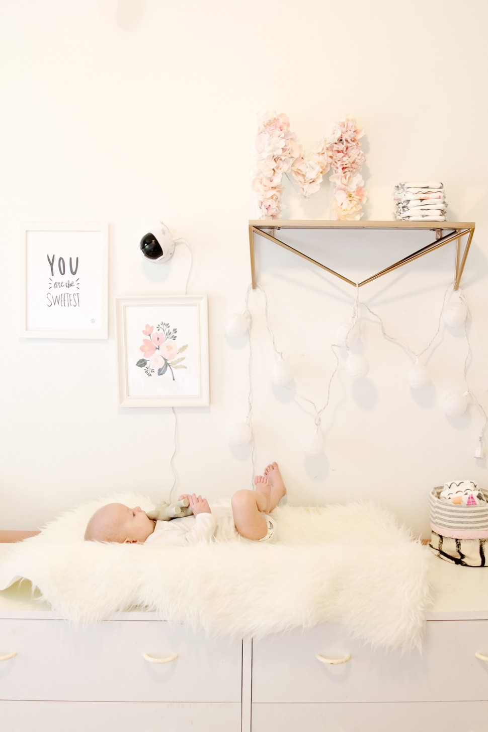 DIY Floral Monogram + Levana Baby Monitor Review - see kate sew - Baby Room Reviews