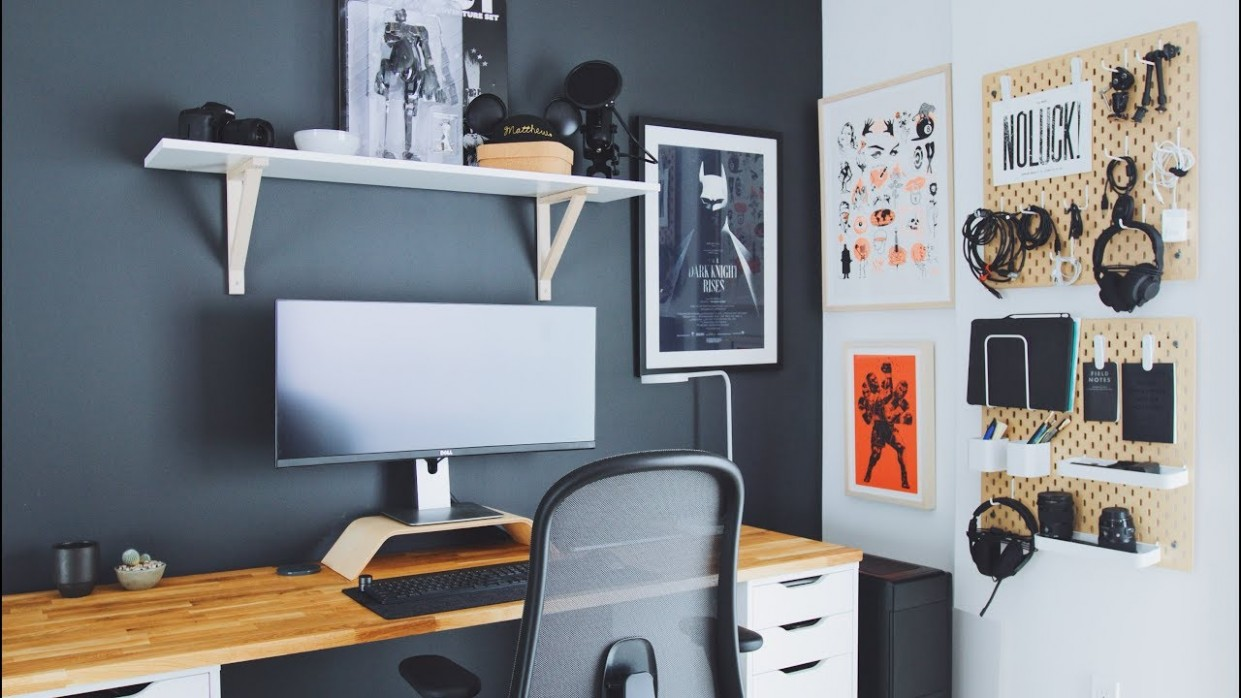 DIY Home Office and Desk Tour — Work From Home Setup - Home Office Ideas Youtube