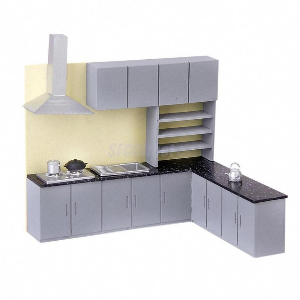 Dollhouse Art Modern Simulation Kitchen Cabinet Set Model Kit  - Dollhouse Kitchen Cabinet Kit