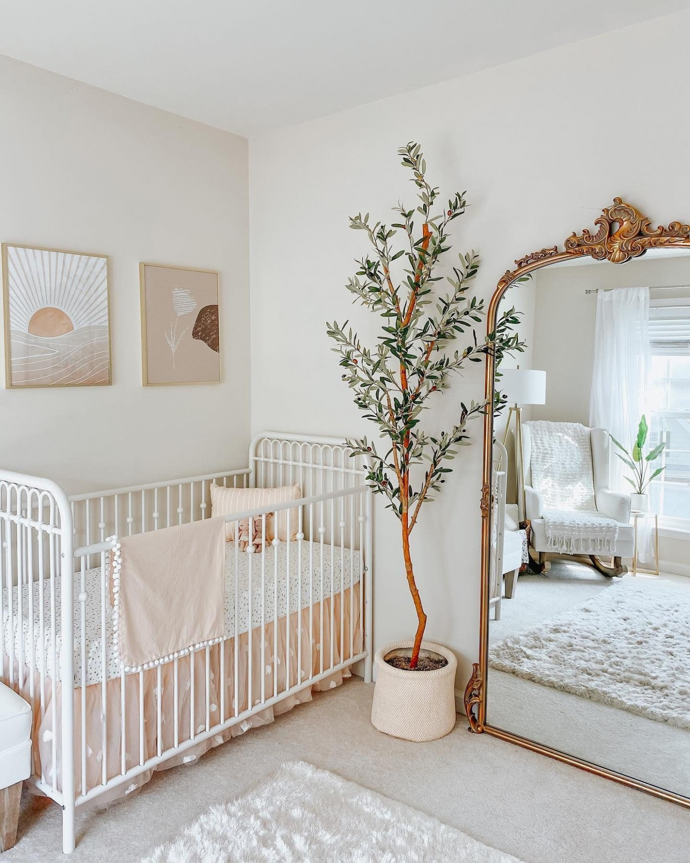 Dreamy Nursery Featuring the Amelie Mirror
