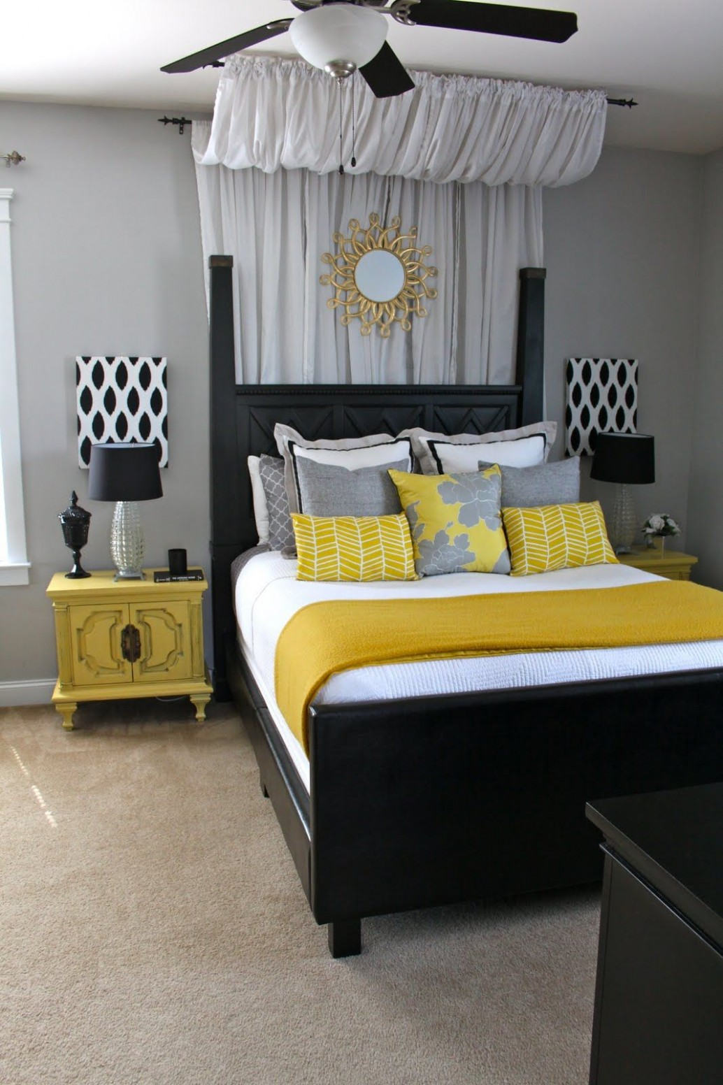 Dwellings By DeVore: The Master  Home bedroom, Elegant bedroom  - Bedroom Ideas Grey And Yellow