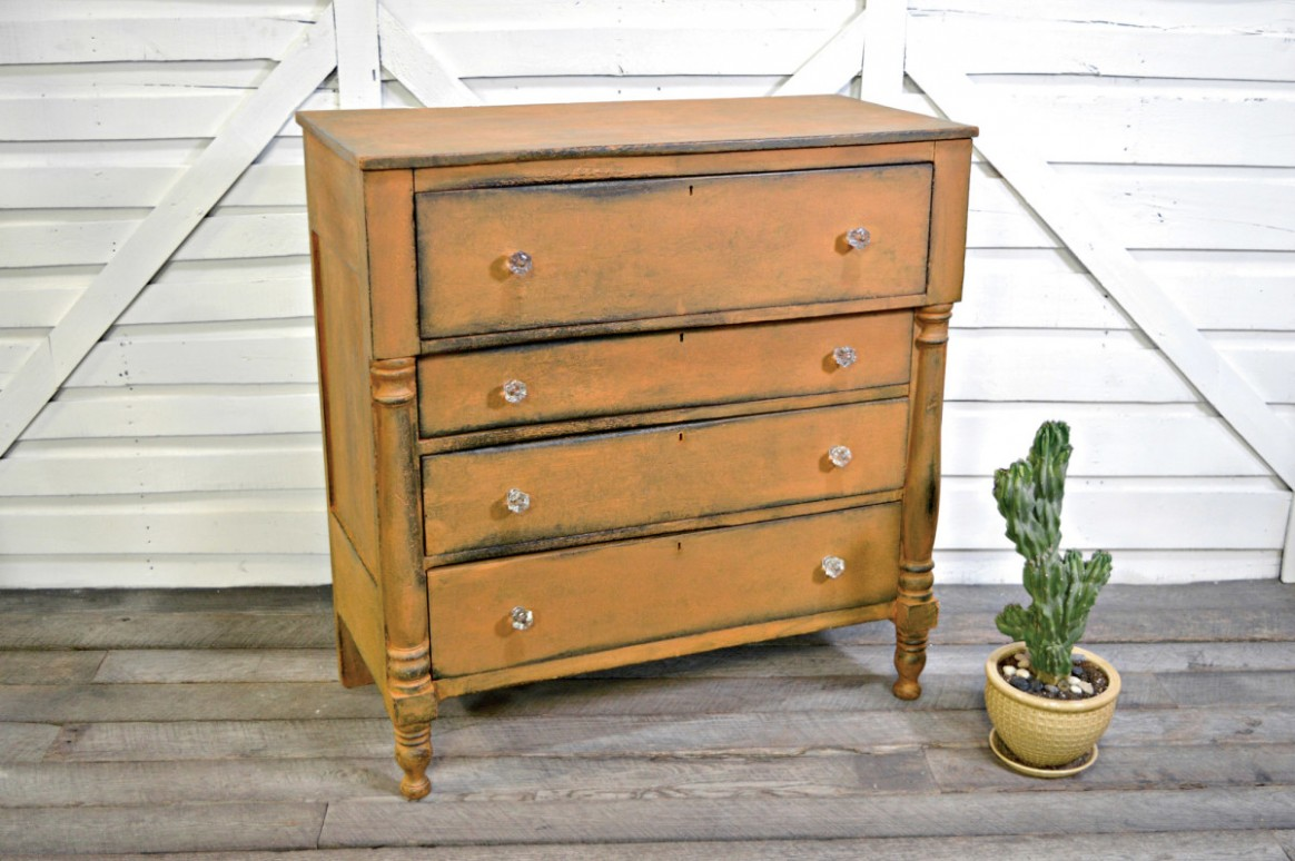 Easy Distressed Finishes - Old House Journal Magazine - Distressed Milk Paint Kitchen Cabinets