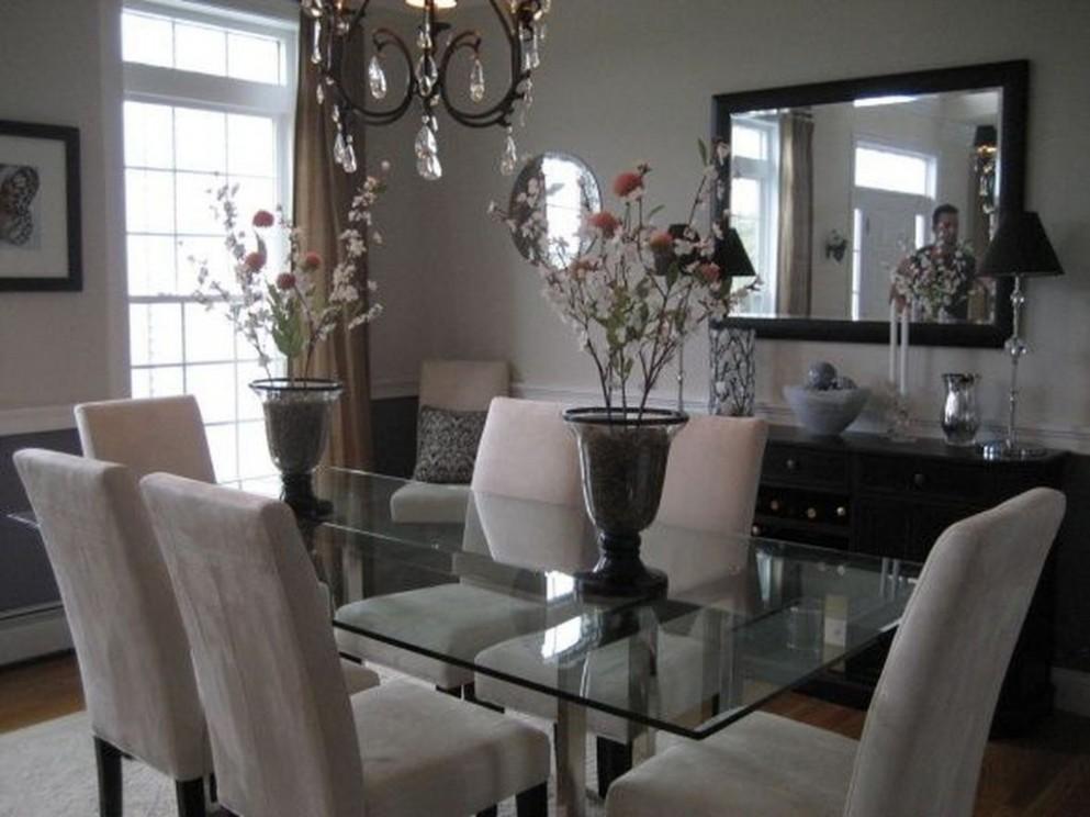 Elegant Dining Room Glass Table Décor Ideas 10  Elegant dining  - Dining Room Ideas Glass Table