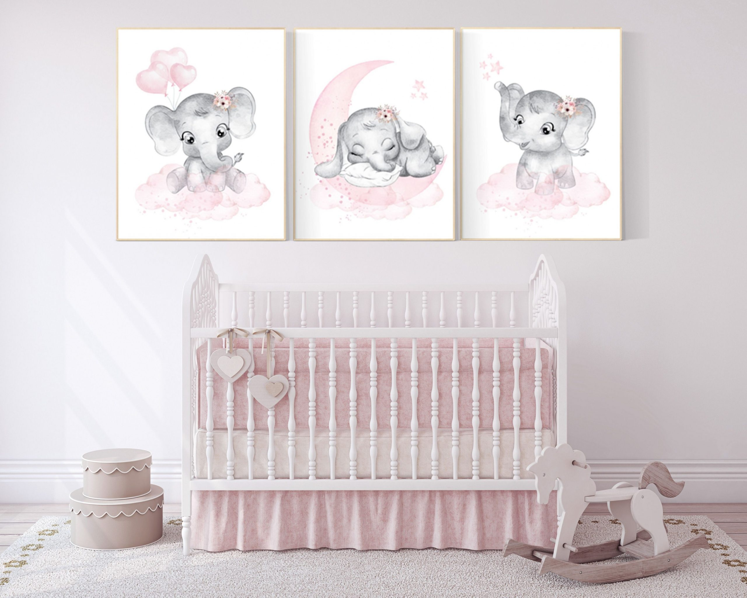 Elephant nursery art elephant nursery print pink and grey  Etsy  - Baby Room Elephant