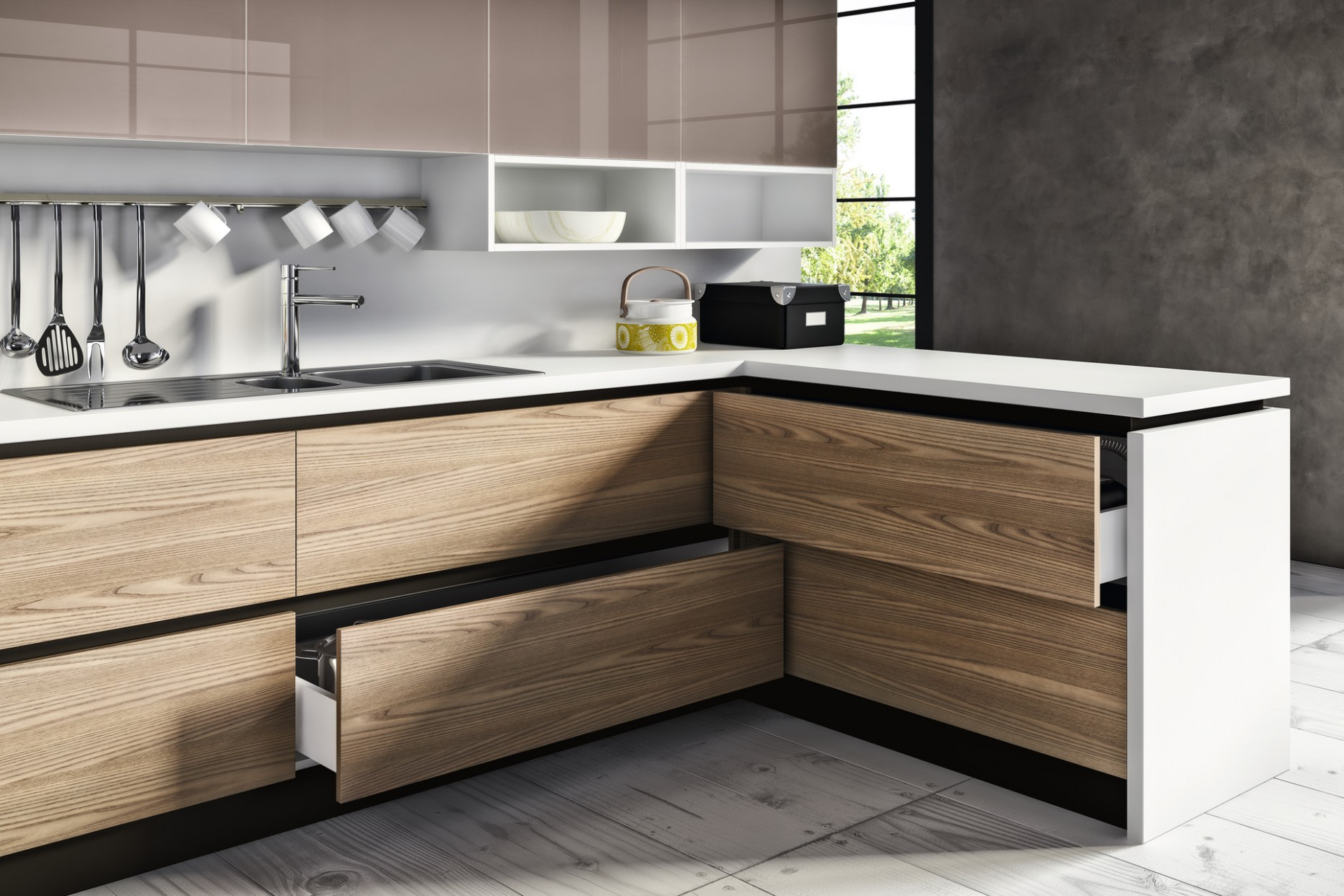 Eureka LAGUNA  Gola Profile  Kitchen Cabinets and Drawers - Integrated Kitchen Cabinets