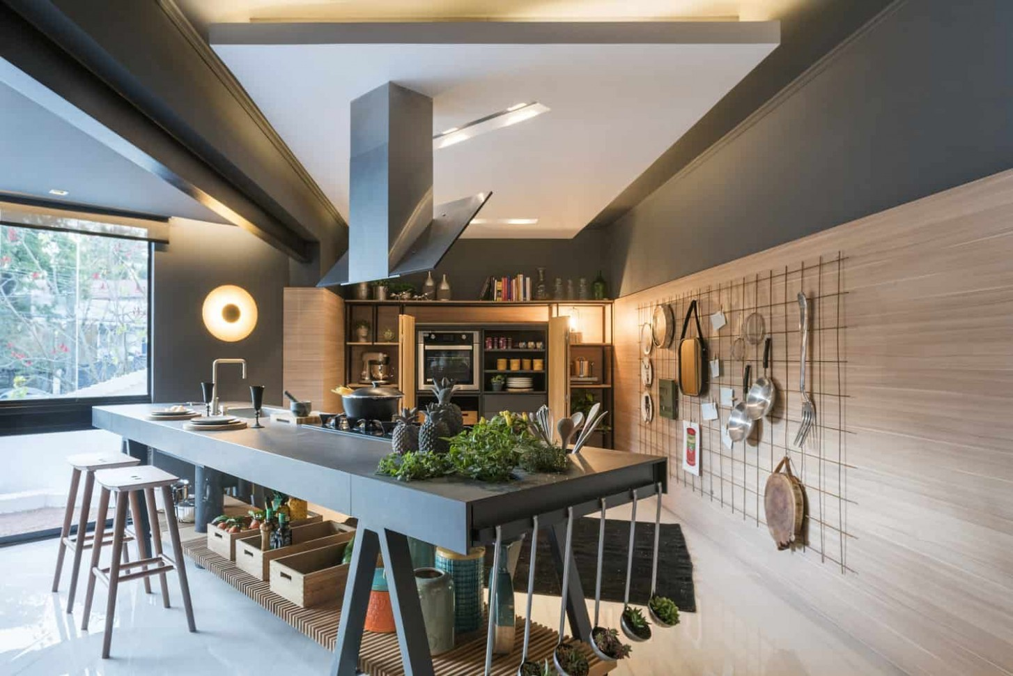 Example of a Great Kitchen without Cabinets and Counters (with  - Kitchen Design Without Cabinets