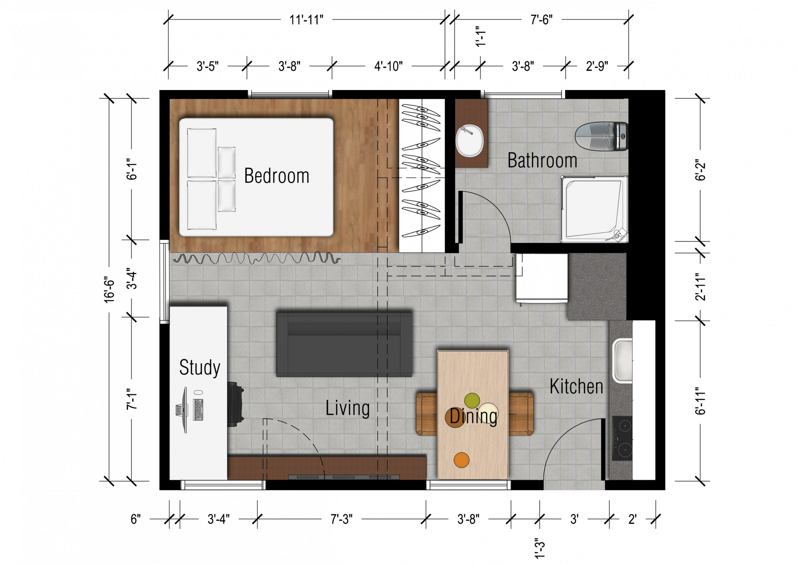 Exclusive Image of Small Apartment Plans Layout - decorpass
