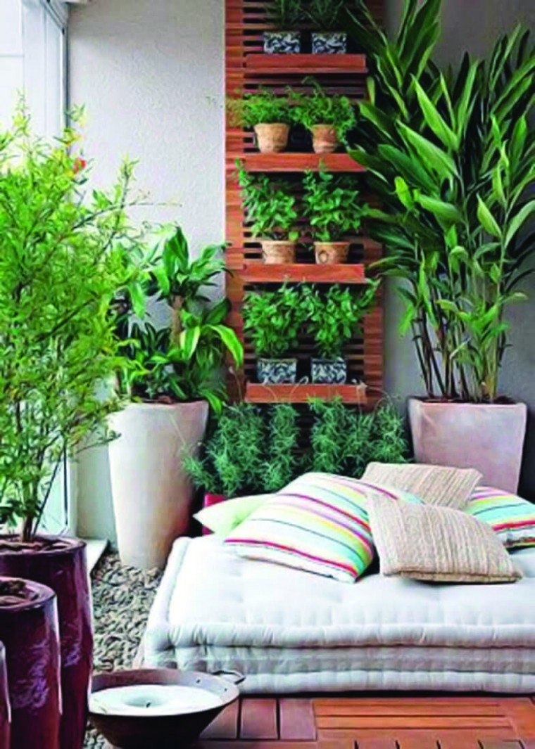 Extraordinary small apartment balcony garden ideas india just on  - Balcony Ideas For Apartments India