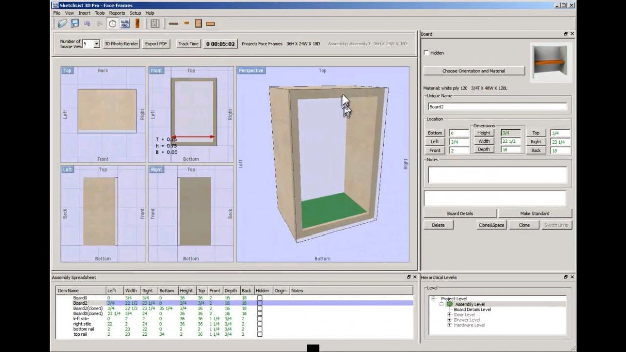 Face Frames with Cabinet Design Software  SketchList11D - Kitchen Cabinet Building Software