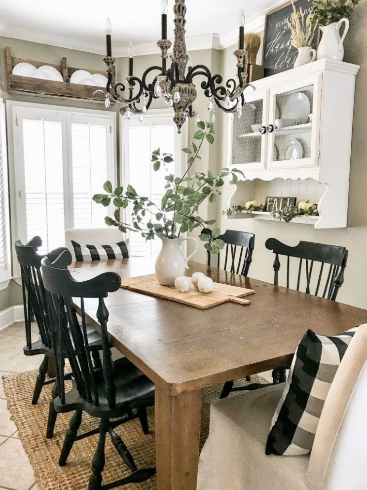 Farmhouse Style Paint Colors: Favorite Neutral Colors  Bless This  - Dining Room Ideas Country Style