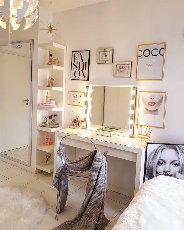 Fashion Art Wall  Makeup room decor, Stylish bedroom, Trendy home  - Makeup Room In Bedroom