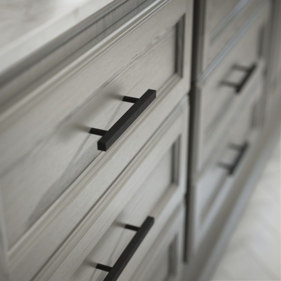 Flat Black Square Drawer Pulls are perfect for both the modern  - Matte Black Kitchen Cabinet Hardware