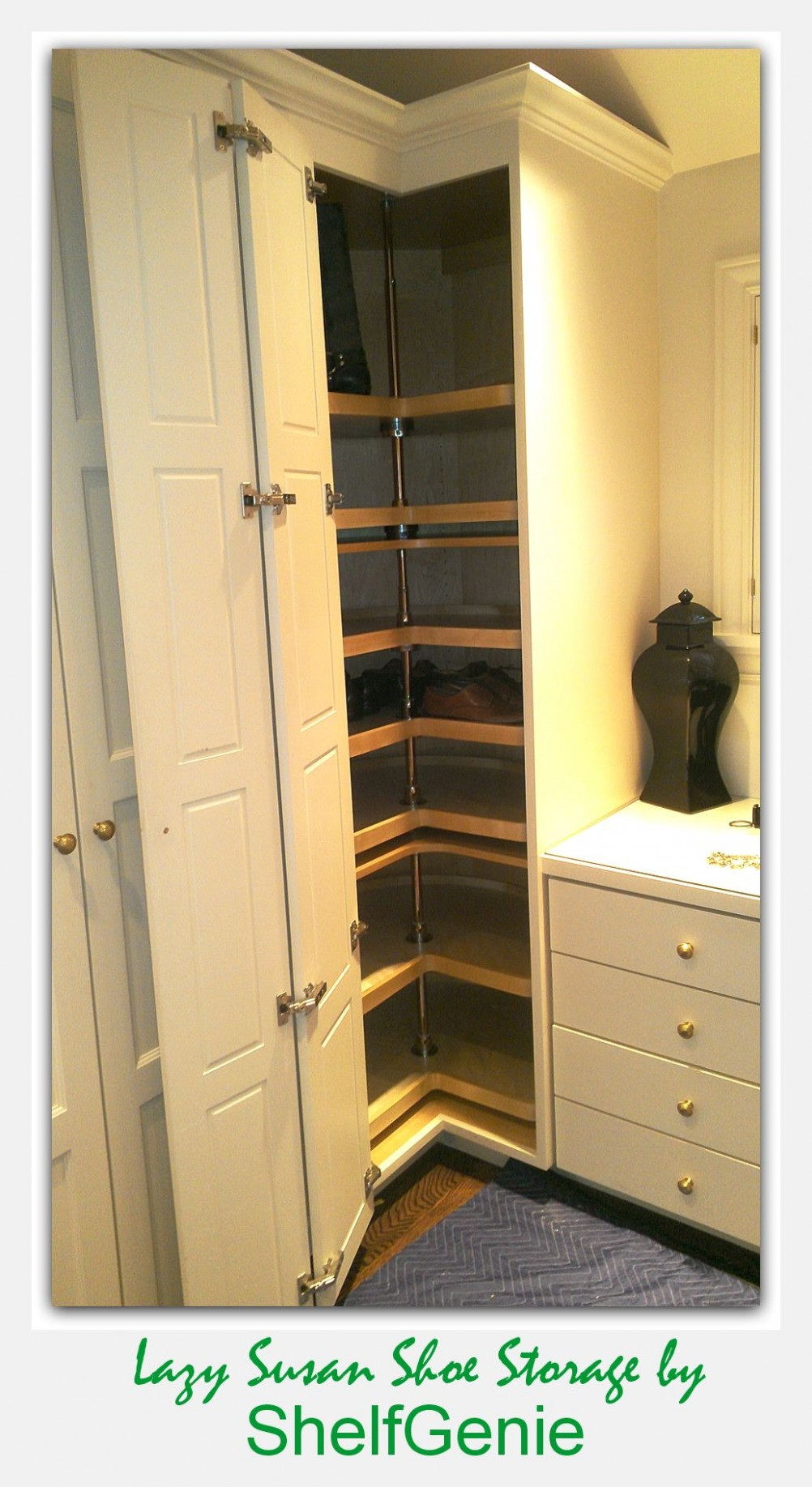 floor to ceiling corner lazy susan cabinet  corner closet  - Floor To Ceiling Corner Kitchen Cabinets
