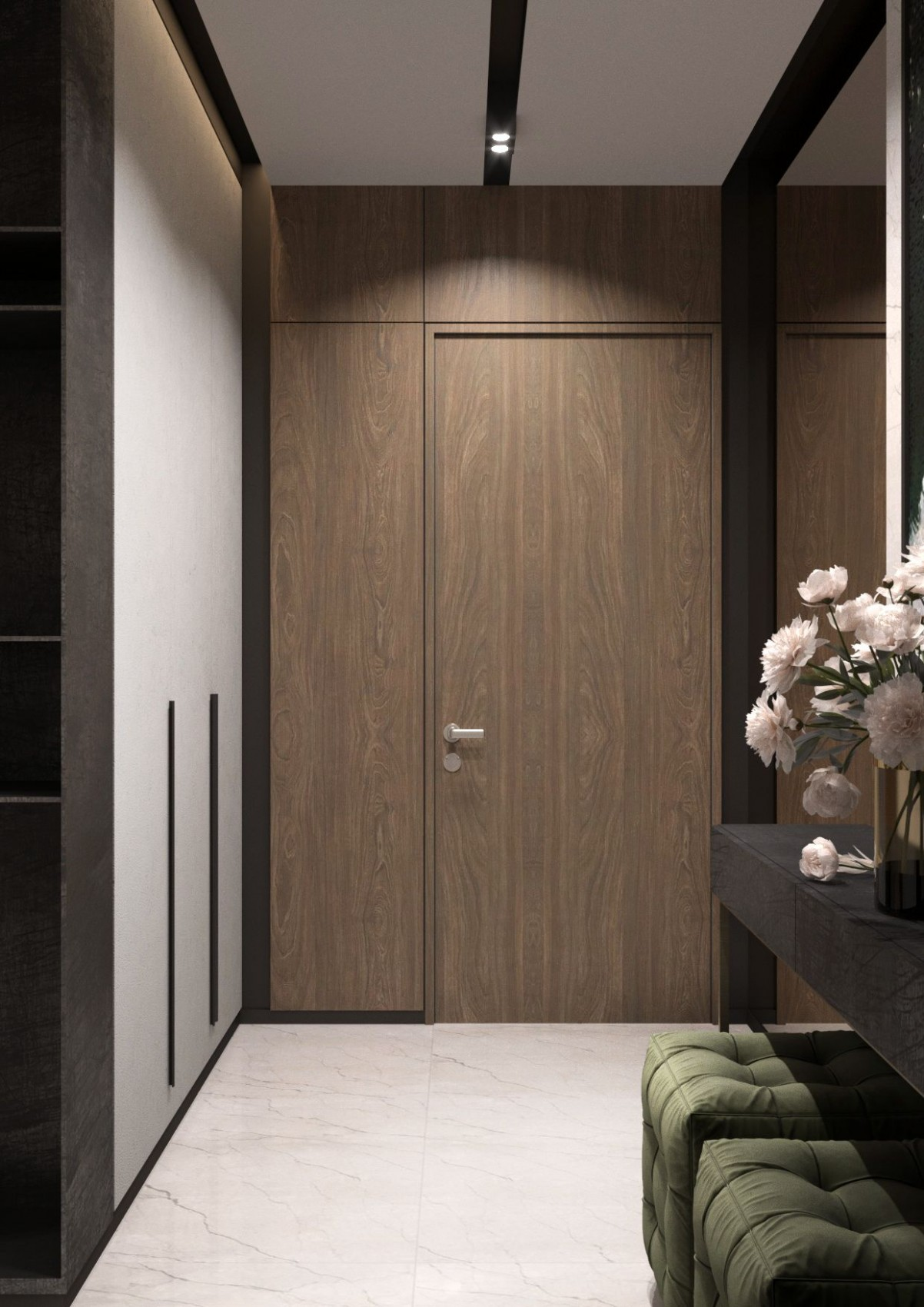 Flush door  Elegant interior design, Entrance ideas entryway  - Apartment Entrance Design Ideas