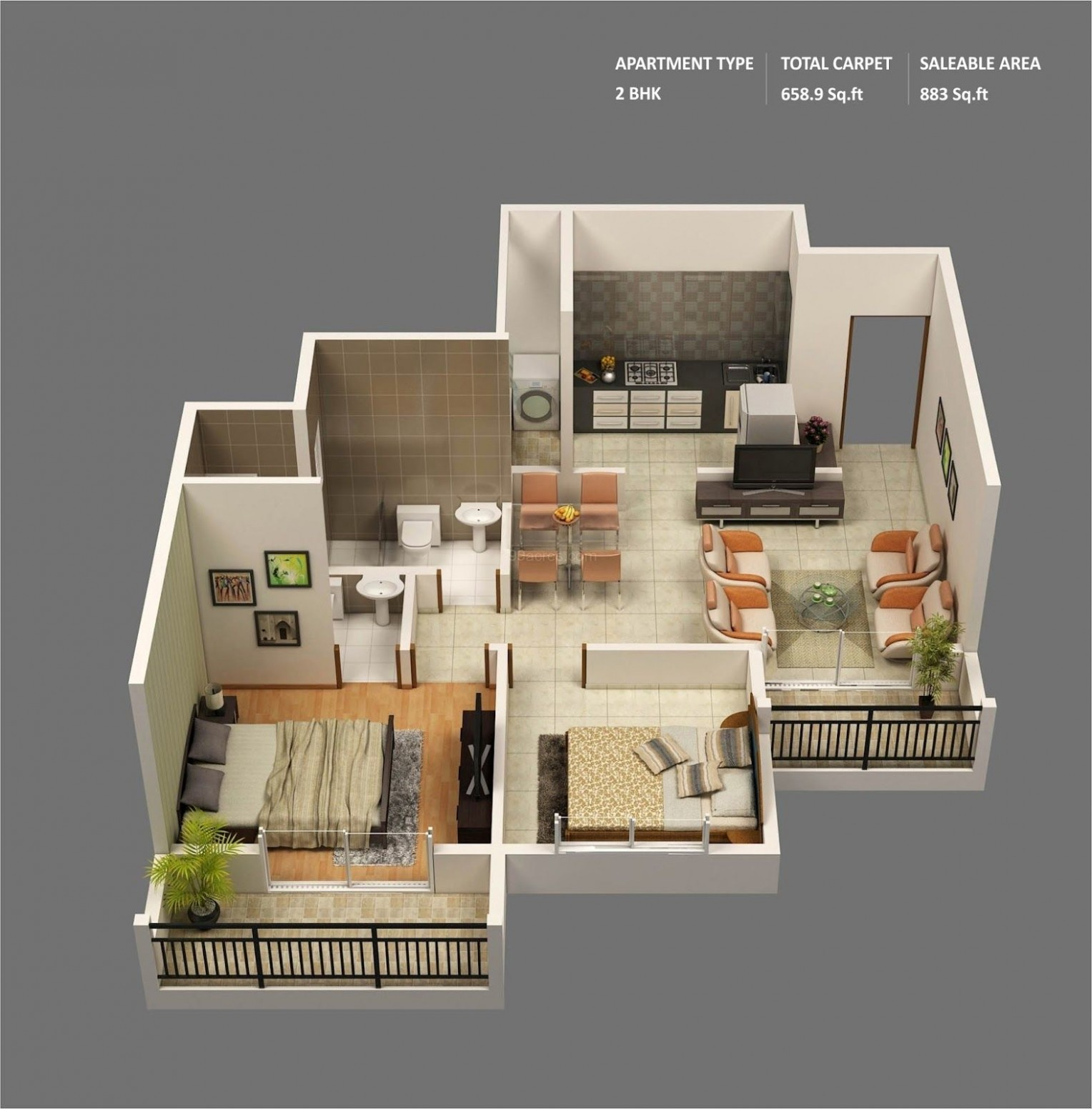 Free 8D floor plan free lay-out design for your house or  - Apartment Design Online Free