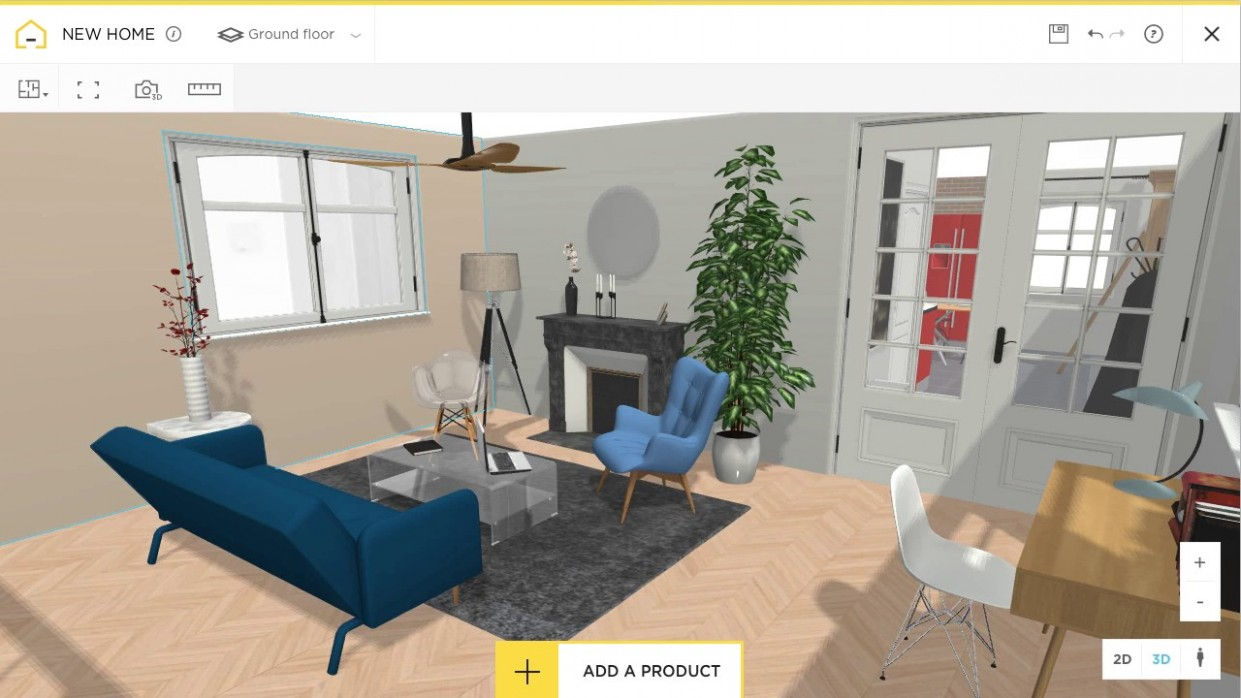 Free and online 12D home design planner - HomeByMe - Apartment Design Tool Online