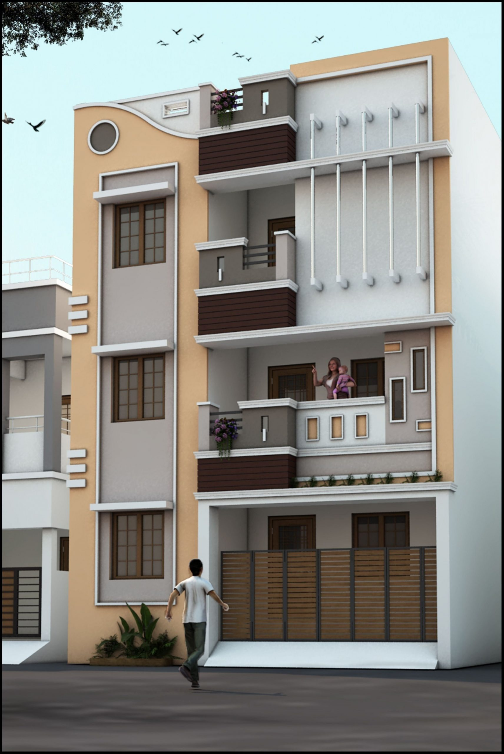 Fresh Small Office Exterior Design Ideas  House front design  - Apartment Design Outside