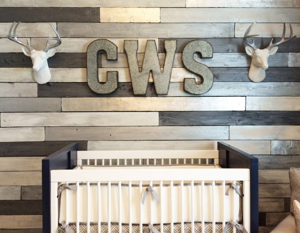 Gallery Roundup: Wood Accent Walls - Project Nursery - Baby Room Accent Wall