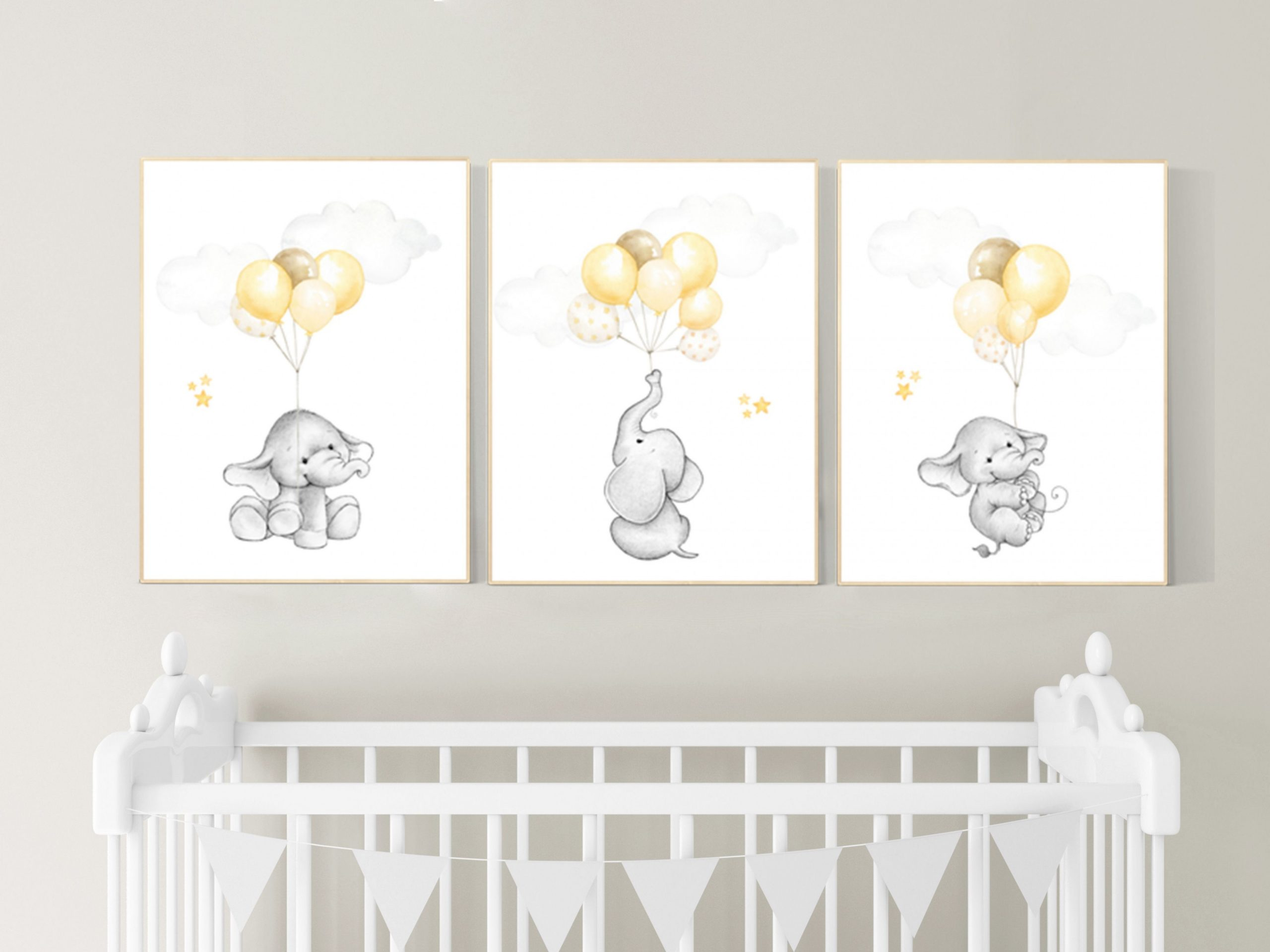 Gender neutral nursery wall art yellow gray yellow grey  Etsy in  - Baby Room Wall Art