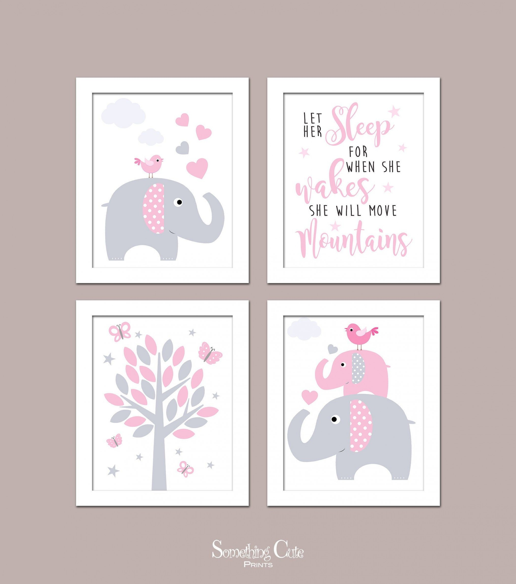 Girl Nursery Wall Art, Girl Bedroom Prints, Nursery Wall Decor  - Baby Room Wall Art