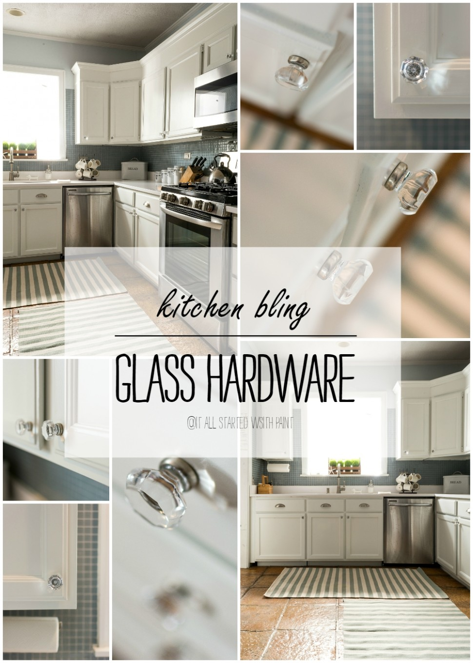 Glass Hardware in Kitchen - Glass Kitchen Cabinet Pulls And Knobs