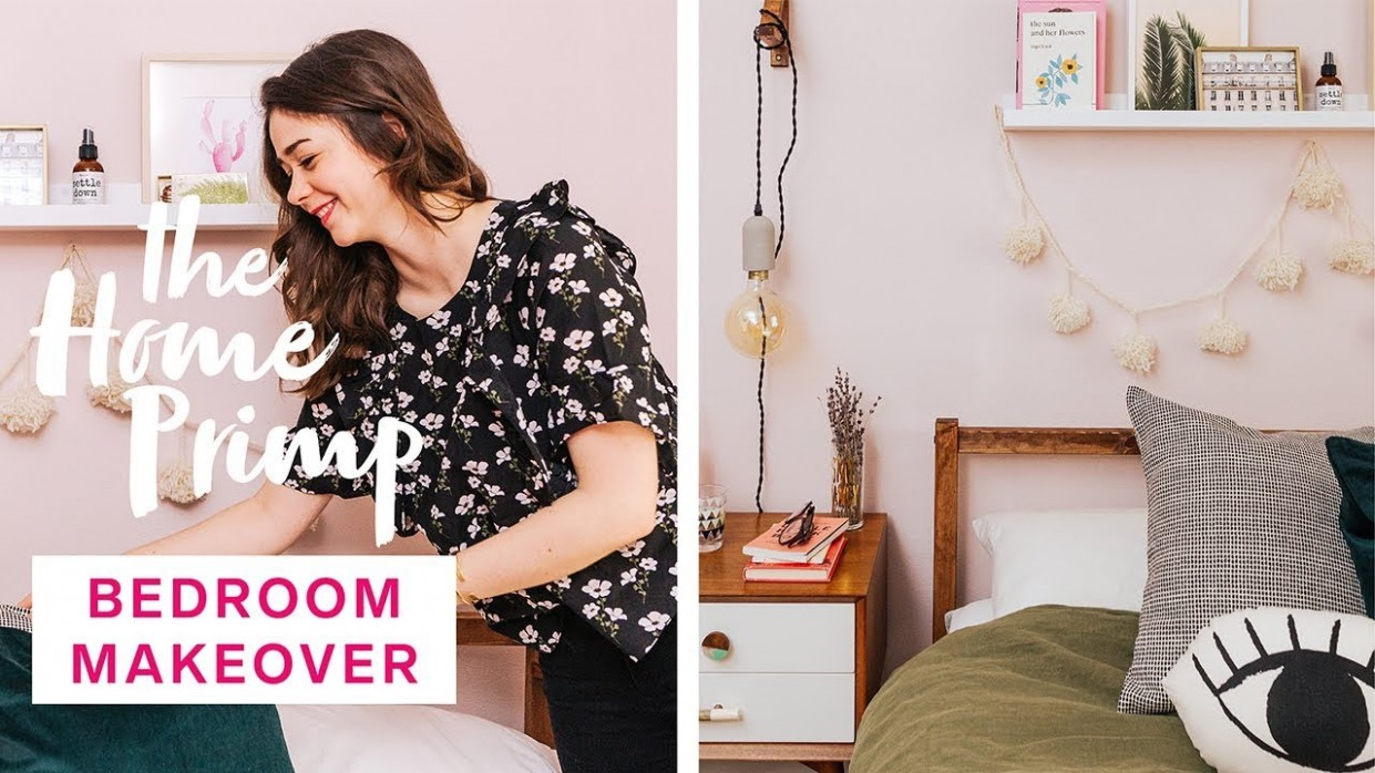 Gorgeous Bedroom Makeover On A Budget  Small Bedroom Design Ideas  The  Home Primp - Bedroom Ideas Videos