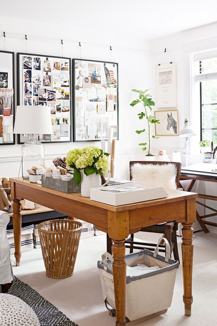 Gorgeous Country-Inspired Home Offices  Dining room office, Home  - Dining Room Office Ideas