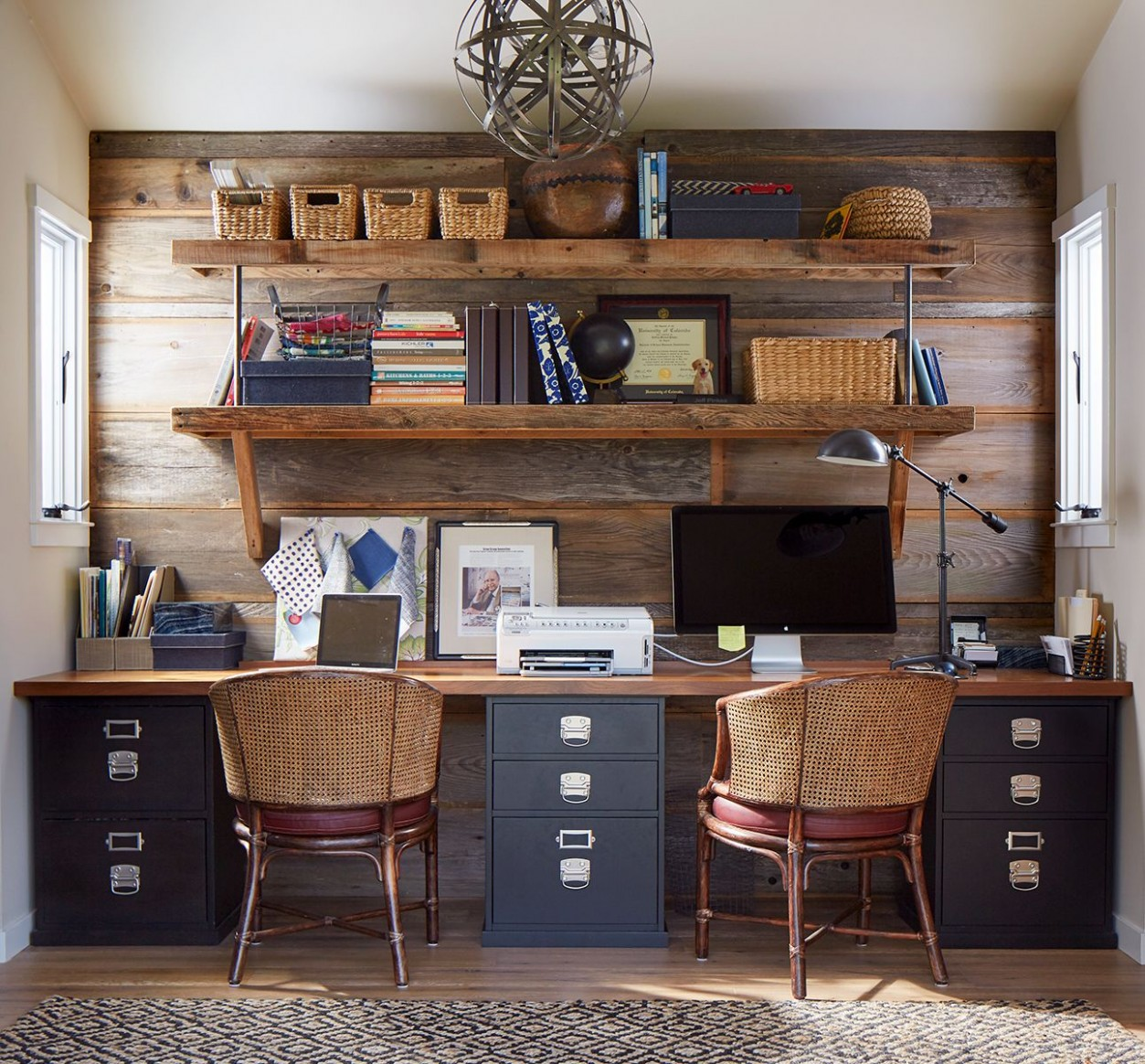 Gorgeous Country-Inspired Home Offices  Rustic home offices, Home  - Home Office Ideas Rustic