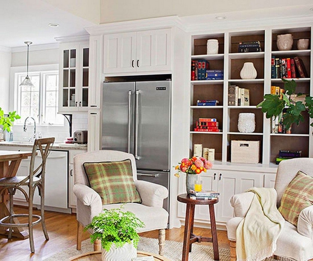 Gorgeous Cozy Keeping Room Off Kitchen Design (11)  Living room  - Dining Room Off Kitchen Ideas