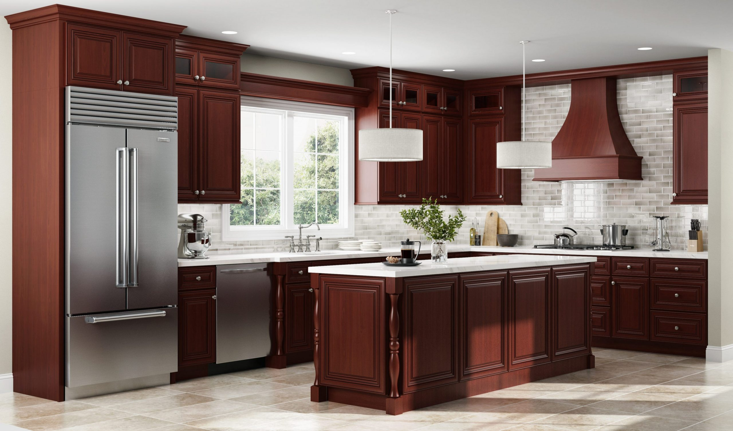 Gorgeous Kitchen Design ideas For Cherry Cabinets - Kitchen Wall Paint Colors With Cherry Cabinets