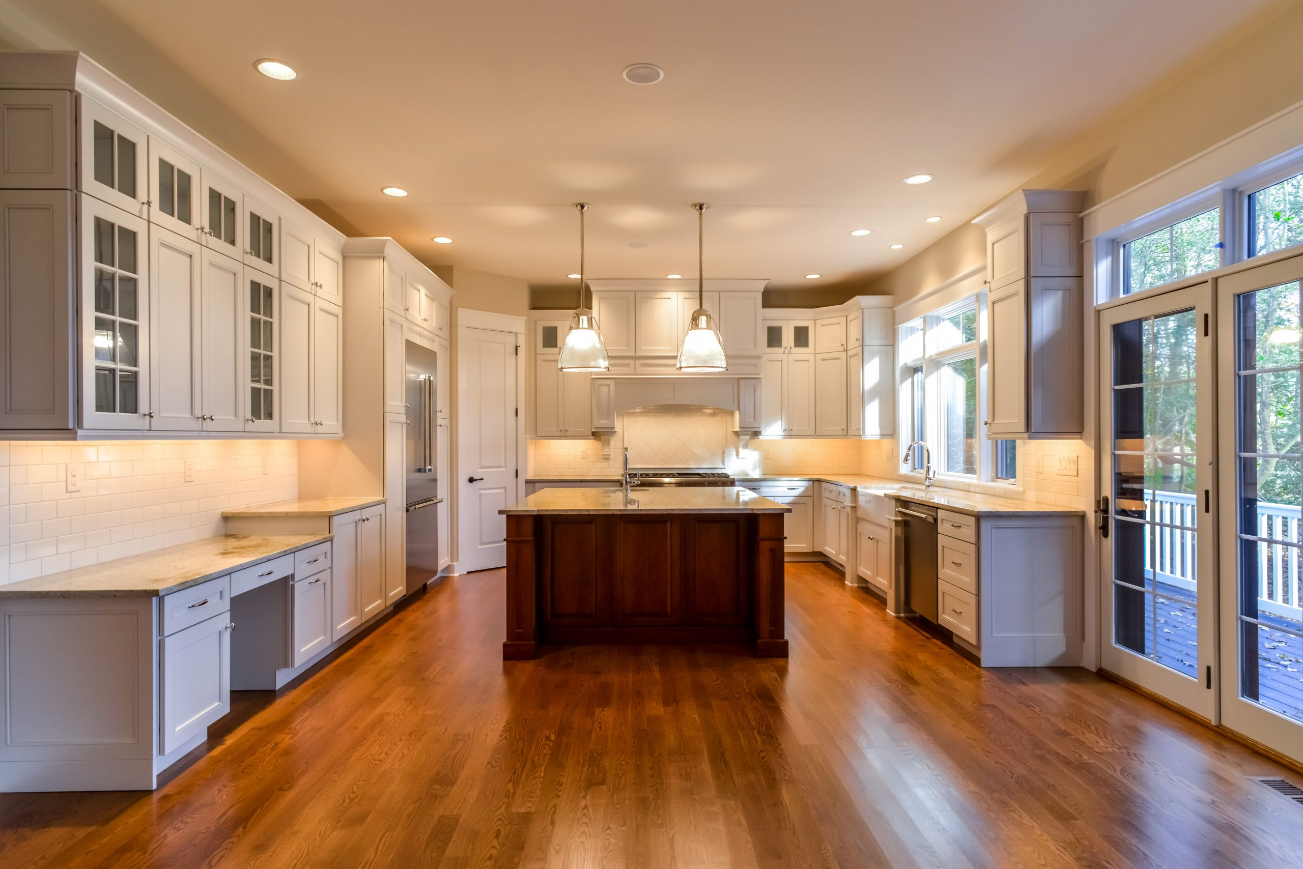 Gourmet kitchen in Wellstone Place, a Southern Living house plan  - Superior Kitchen Cabinets Gardner Ma