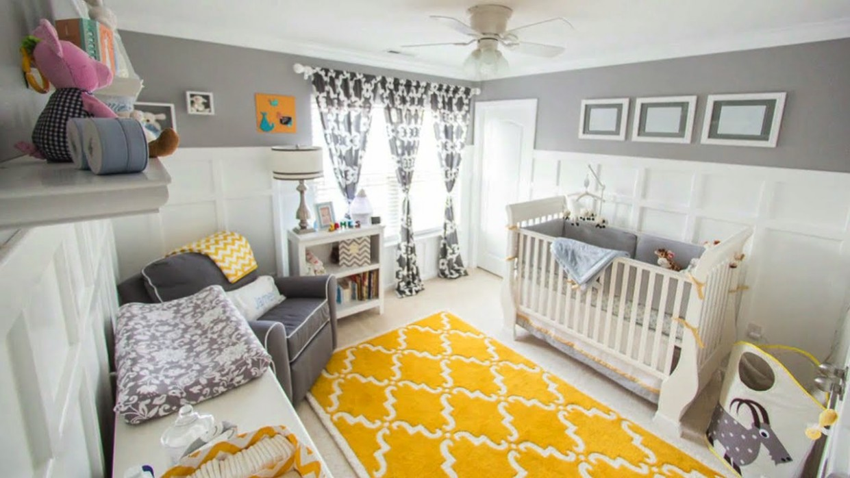 Gray & Yellow for a Gender Neutral Nursery - Baby Room Youtube