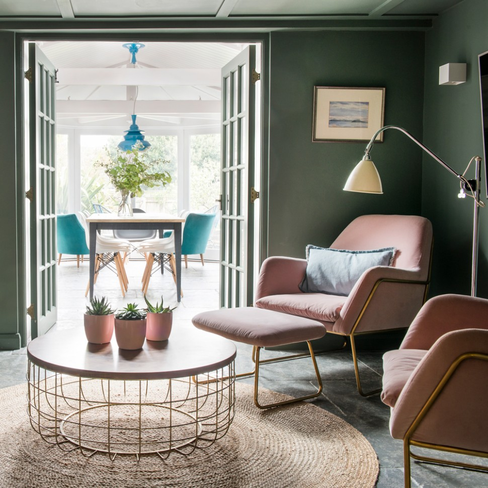 Green living room ideas for soothing, sophisticated spaces - Dining Room Ideas Green