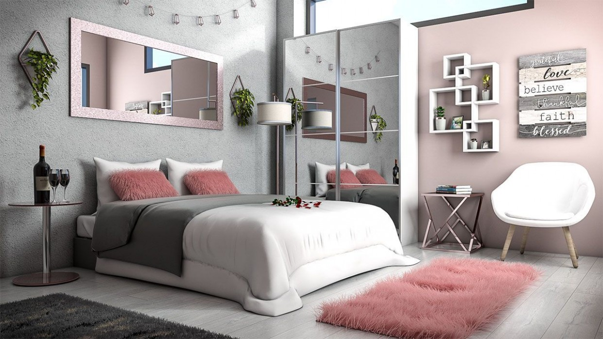 Grey and Rose Gold Bedroom Design in 10  Grey and gold bedroom  - Bedroom Ideas Rose Gold And Grey