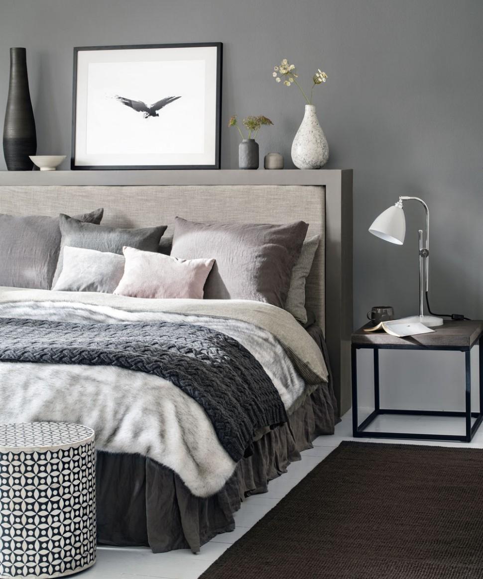 Grey bedroom ideas – grey bedroom decorating – grey colour scheme - Bedroom Ideas Grey Bed