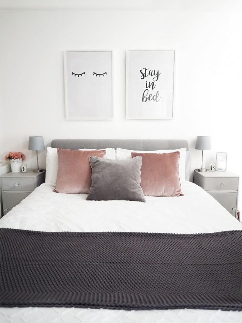 Grey Bedroom Ideas Pinterest #GreyBedroomIdeas Grey Bedroom, Grey  - Bedroom Ideas Pinterest Grey