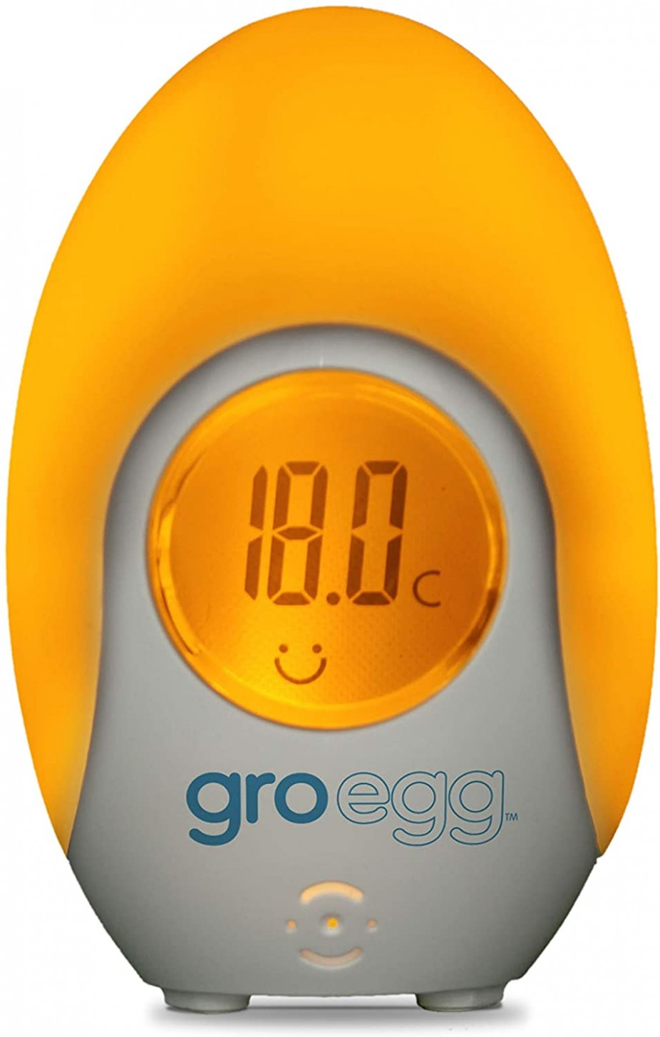 Gro-Egg Color Changing Digital Room Thermometer, White [Baby Product] - Baby Room Thermometer