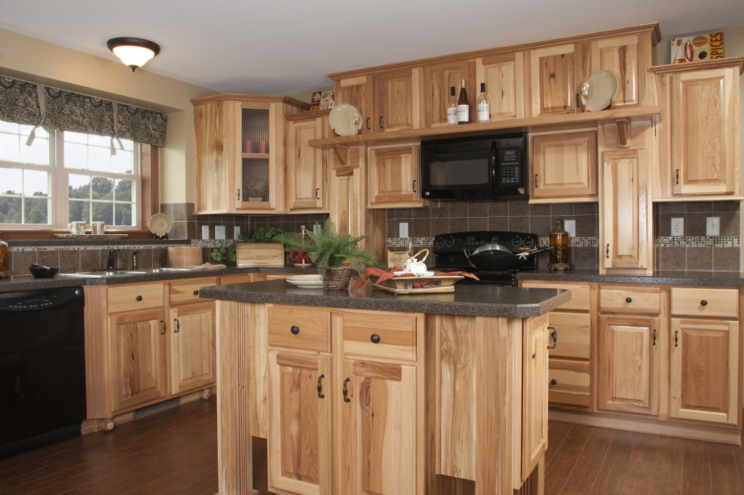 Hickory Kitchen Cabinets: Natural Characteristic Materials - Home  - Natural Hickory Kitchen Cabinets