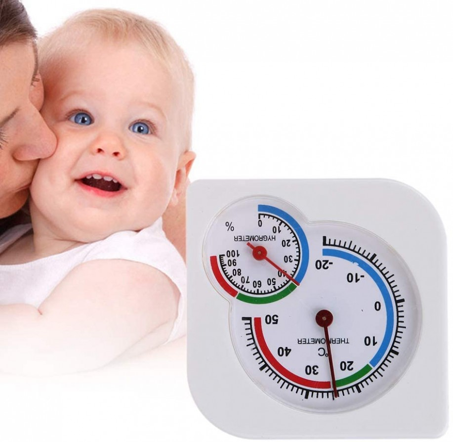 Home Dial Room Thermometer Humidity and Temperature Sensor Useful  - Baby Room Thermometer