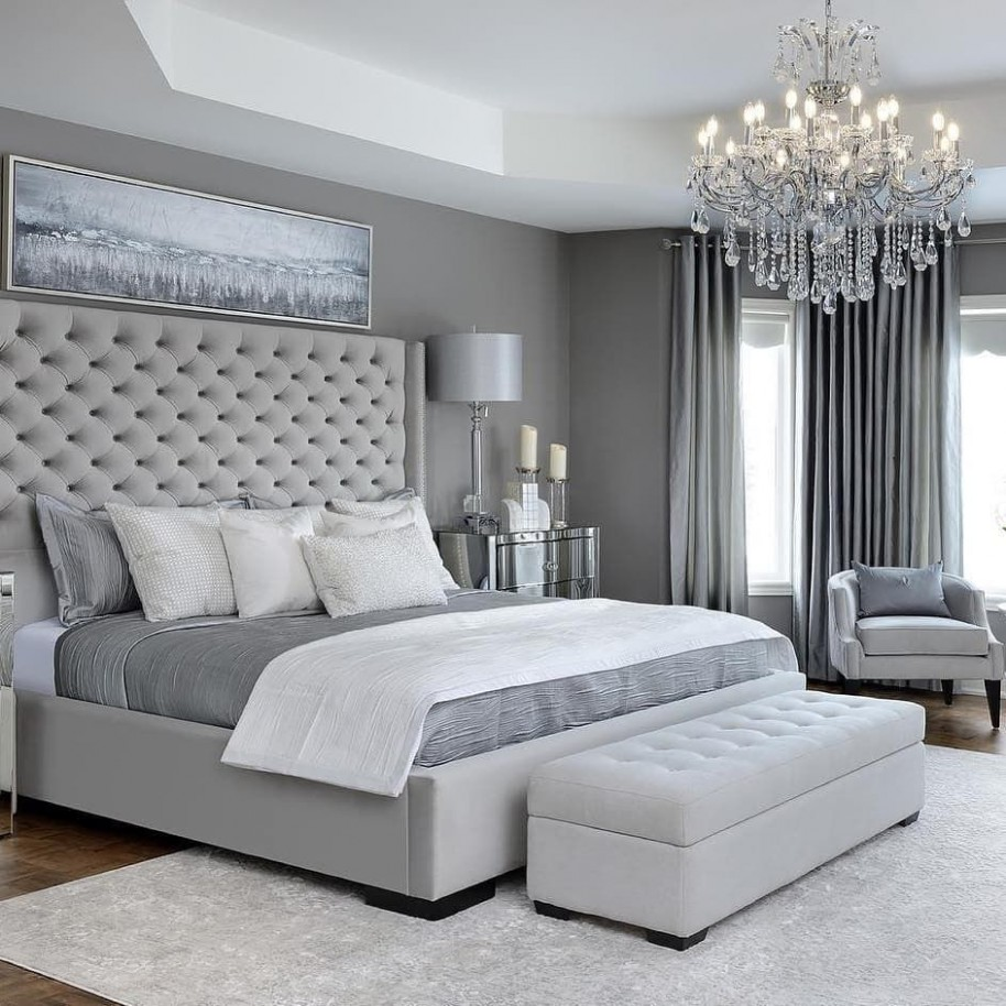 "Home • Interior • Inspiration on Instagram: ""How many shades of  - Bedroom Ideas Grey Bed"