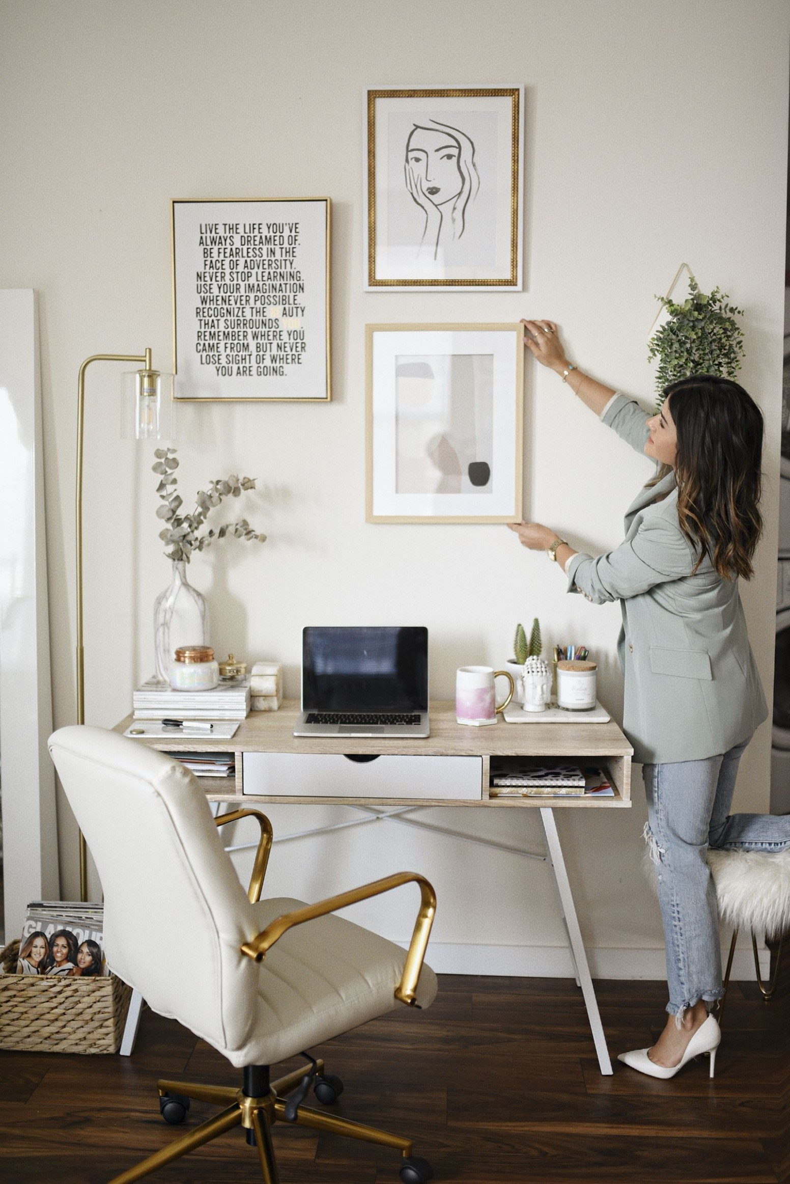HOME OFFICE DECOR IDEAS  CHIC TALK in 12  Home office setup  - Home Office Accessories Ideas
