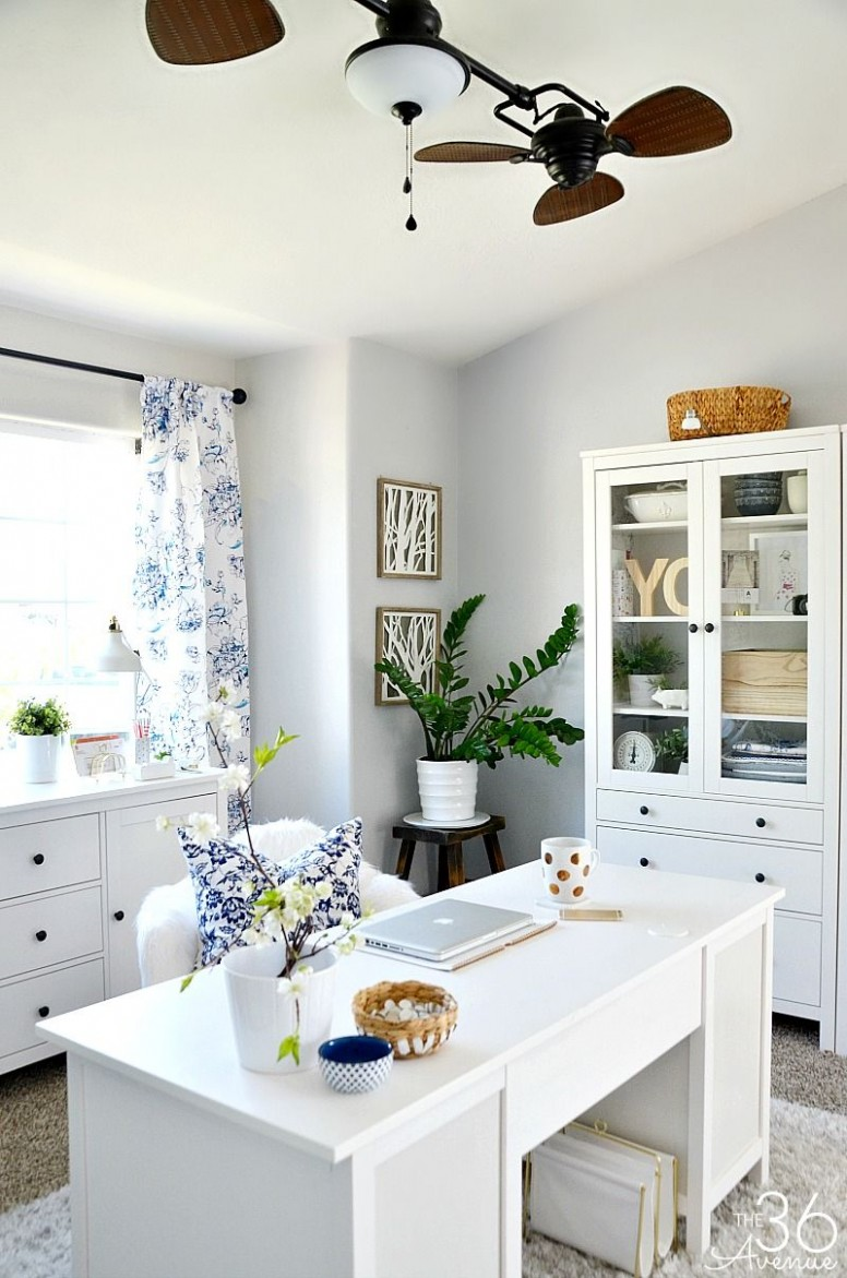Home Office Decor Reveal – Part One  Home office decor, Home  - Home Office Ideas In Dining Room