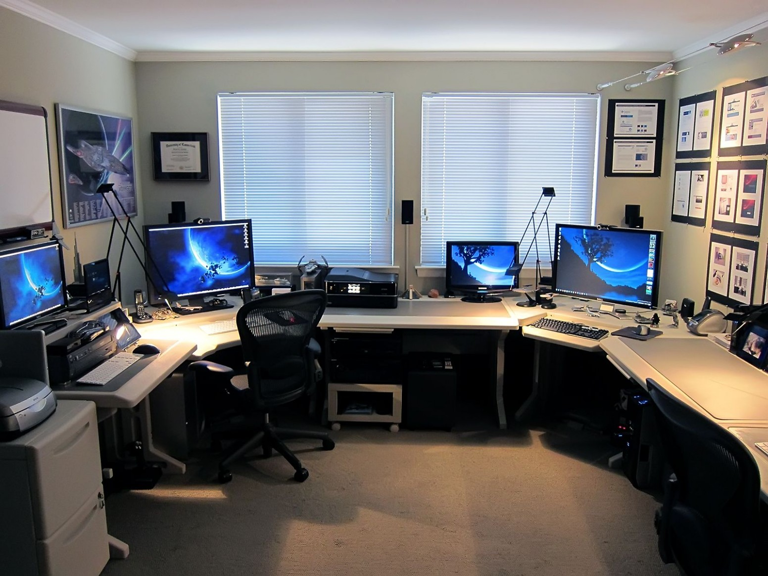 Home Office Design Multiple Monitors I andryhome