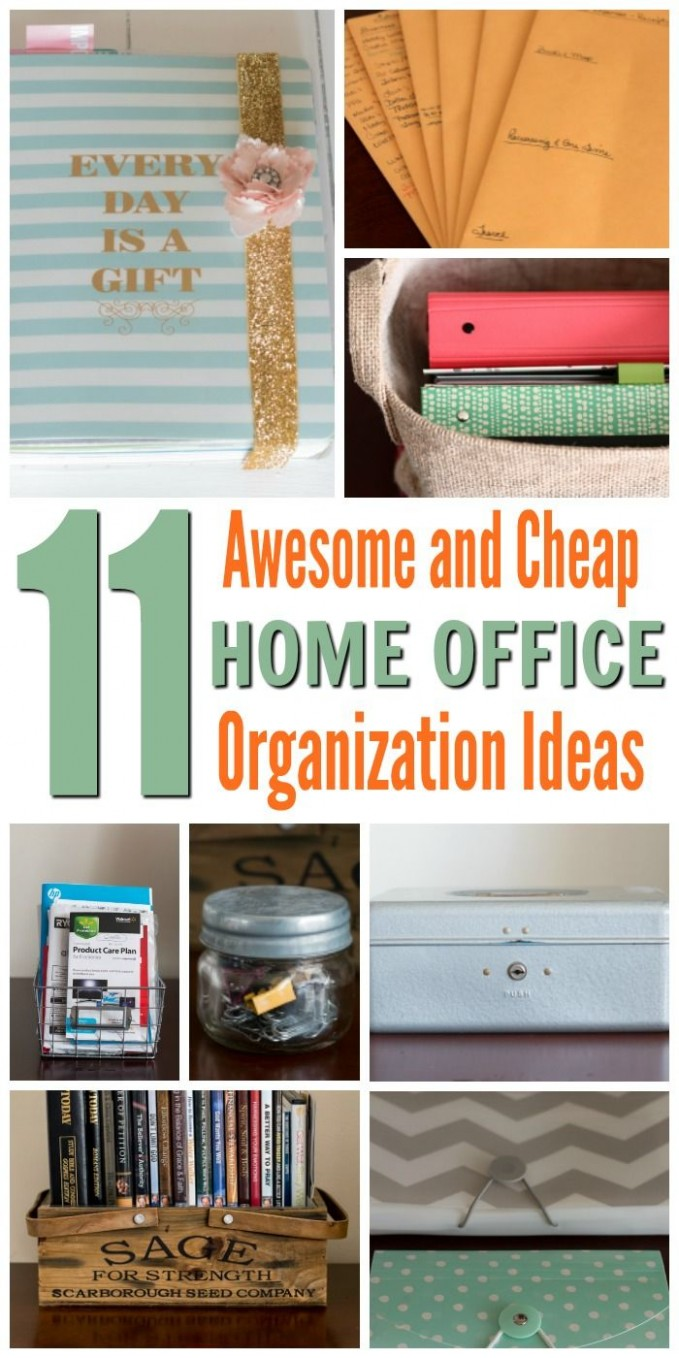 Home Office Organization Ideas  Small office organization, Office  - Home Office Organization Ideas On A Budget