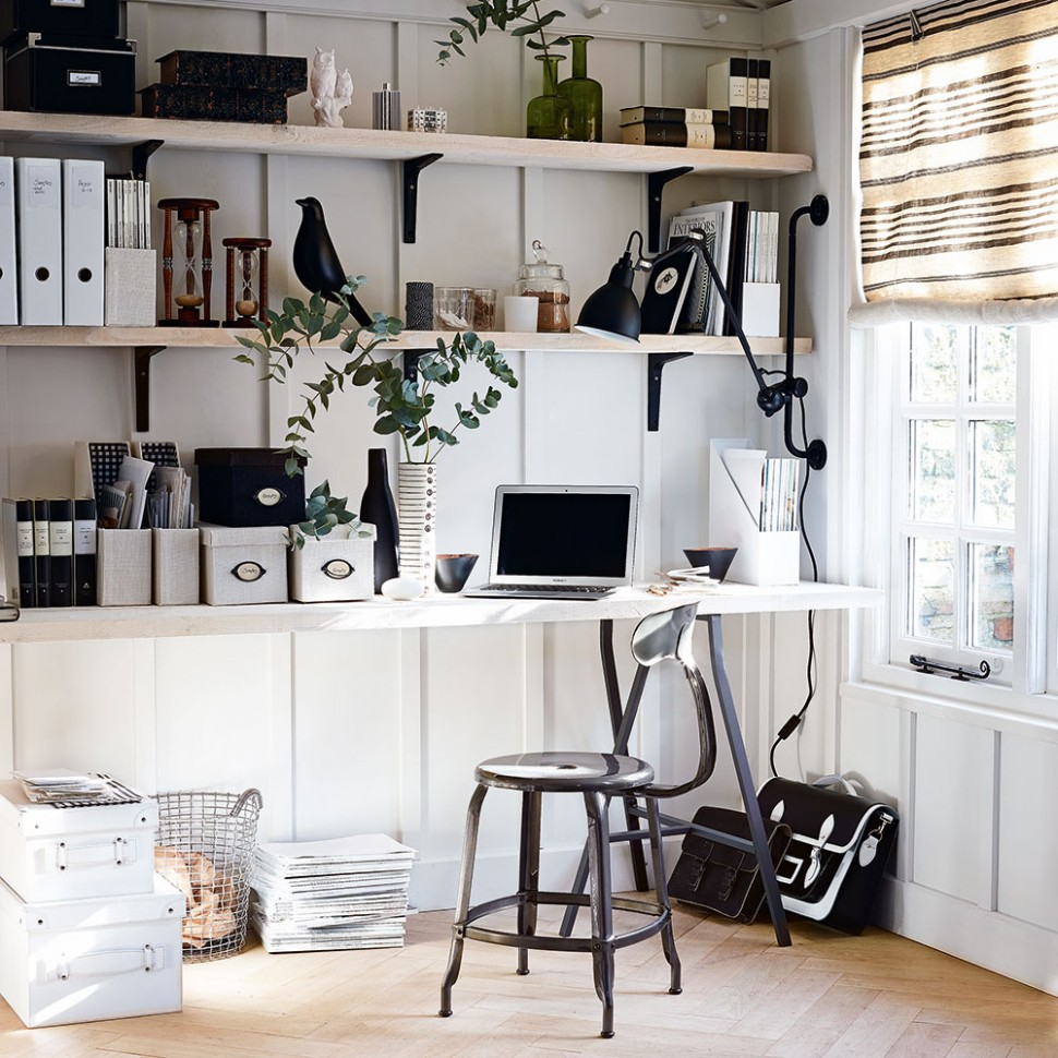 Home office storage ideas to help you keep on top of your work - Home Office Bookshelf Ideas