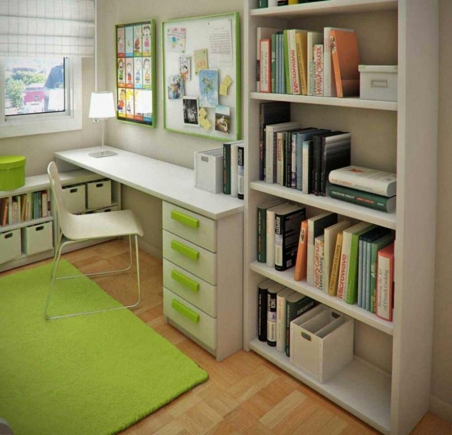 Home Small Office Ideas With Regard To Small Bedroom Office Combo  - Home Office Ideas Bedroom