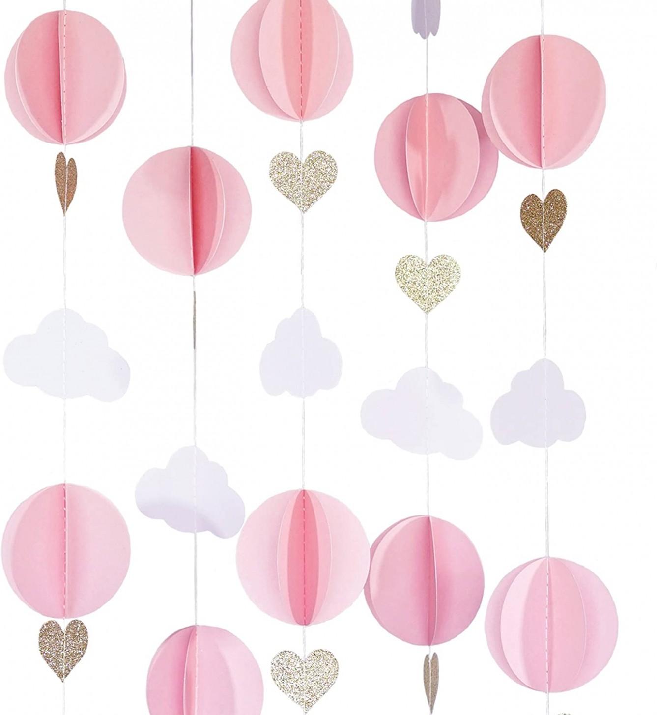 Hot Air Balloon 10D Paper Garland Baby Room Nursery Decor, Baby  - Baby Room Garland