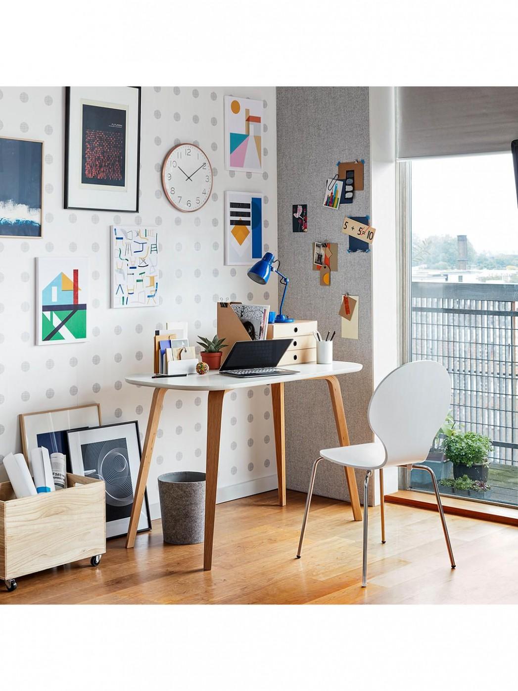 House by John Lewis Anton Desk, Smoke  Home office design, Office  - John Lewis Home Office Ideas