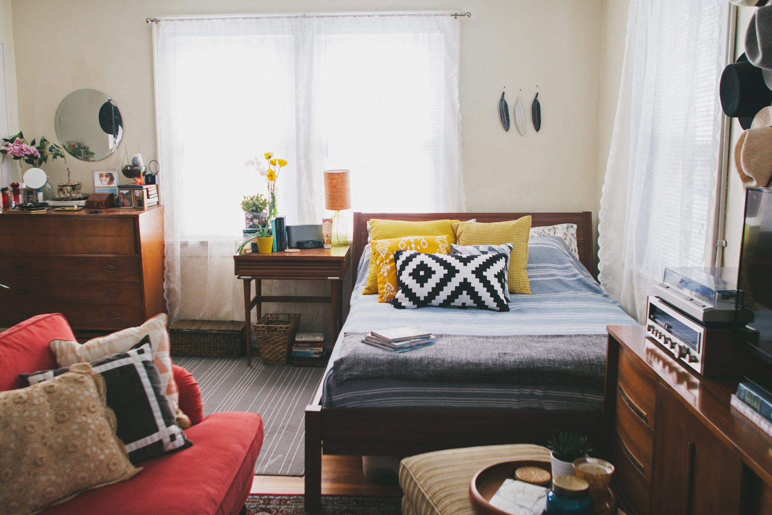 """House Tour: A Tiny """"Bohemian Vintage"""" Style Studio Apartment  - Small Apartment Decorating Ideas Boho"""