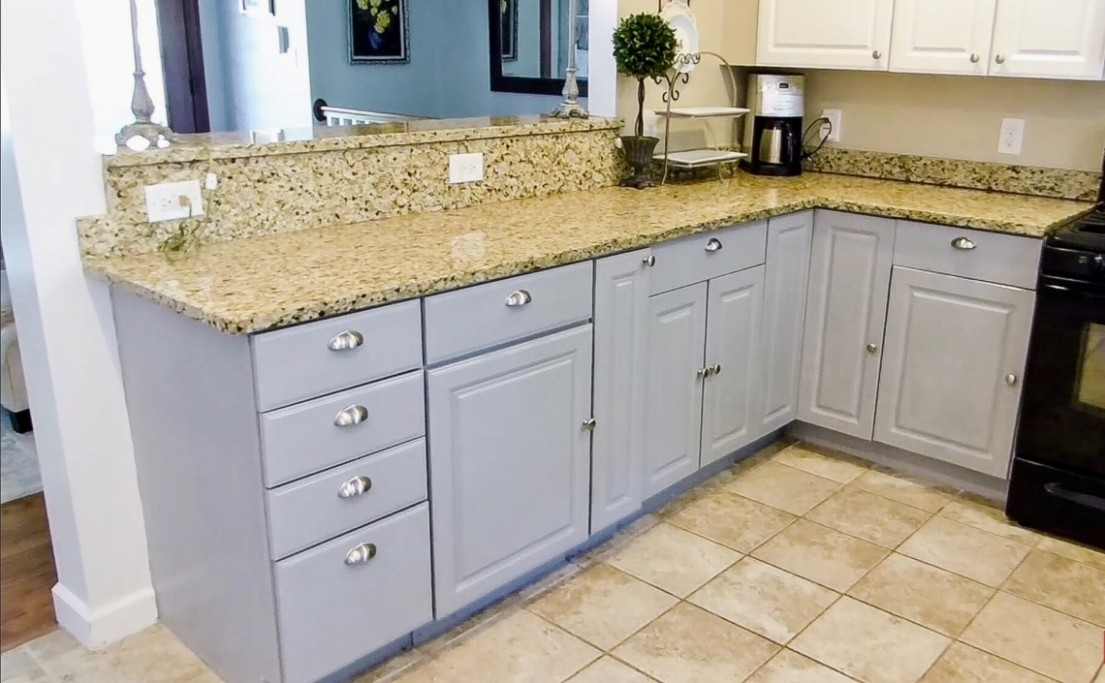 How I Chalk-Painted My Kitchen Cabinets – The Little Jewel Box - Diy Chalk Paint On Kitchen Cabinets